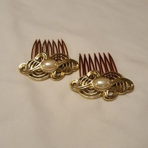 Pair of Vintage Hair Comb